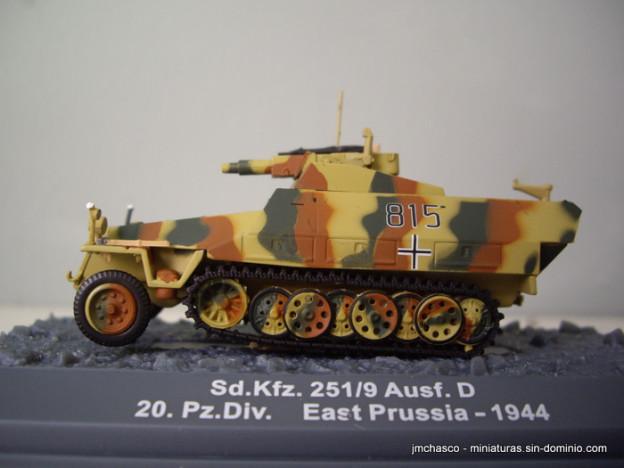 """nº46 – 1/72 Altaya – IXO Sd.Kfz. 251/9 Ausf. D """"Stummel"""""""