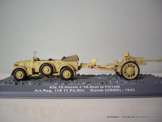 nº55 – Kfz. 15 Horch + 10.5 cm le FH18M