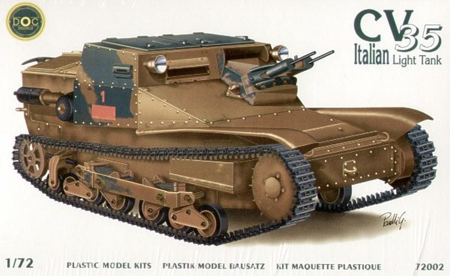 d o c models  u2013 72002  u2013 cv-35 italian light tank  u2013 vehicles - 1  72 scale