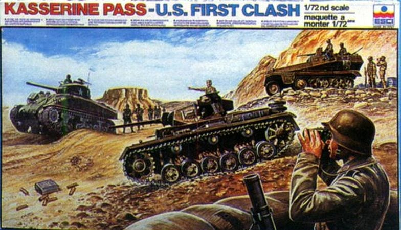 """Military Vehicles For Sale >> ESCI - 2023 - Kasserine Pass """"US First Clash"""" - Miniature Figures & Scale Models Database - Ebay ..."""