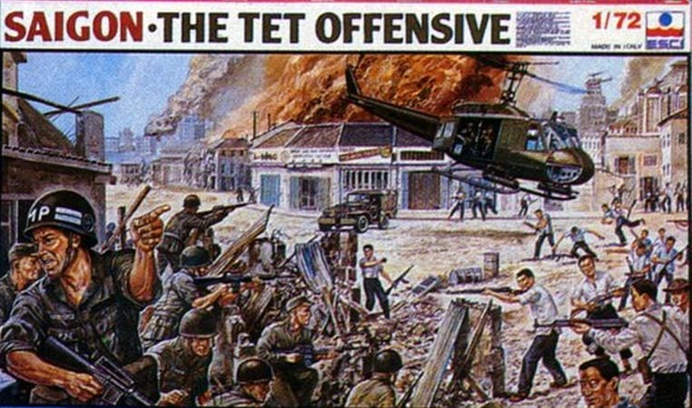 """Military Vehicles For Sale >> ESCI - 2028 - Saigon """"The Tet Offensive"""" - Miniature Figures & Scale Models Database - Ebay Finder"""