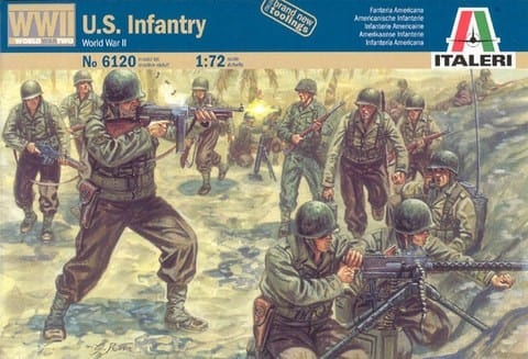 Italeri – 6120 – World War II American Infantry