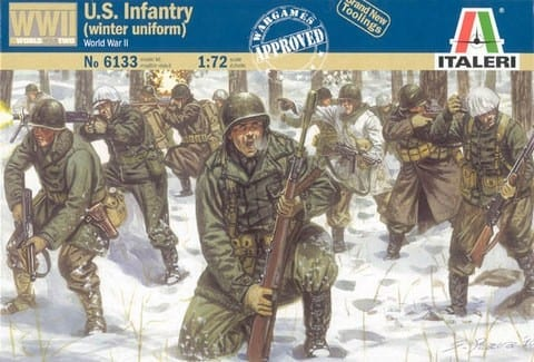 Italeri 6133 world war ii us infantry winter uniform figures world war ii us infantry winter uniform publicscrutiny Choice Image
