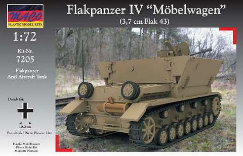 Military Vehicles For Sale >> MACO – 7205 – Flakpanzer IV Mobelwagen – Vehicles - 1/72 ...
