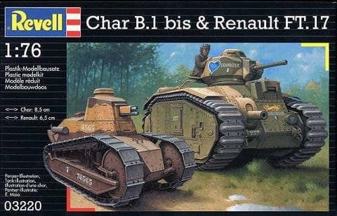 revell 03220 char b1 renault vehicles 1 72 scale miniature figures scale. Black Bedroom Furniture Sets. Home Design Ideas