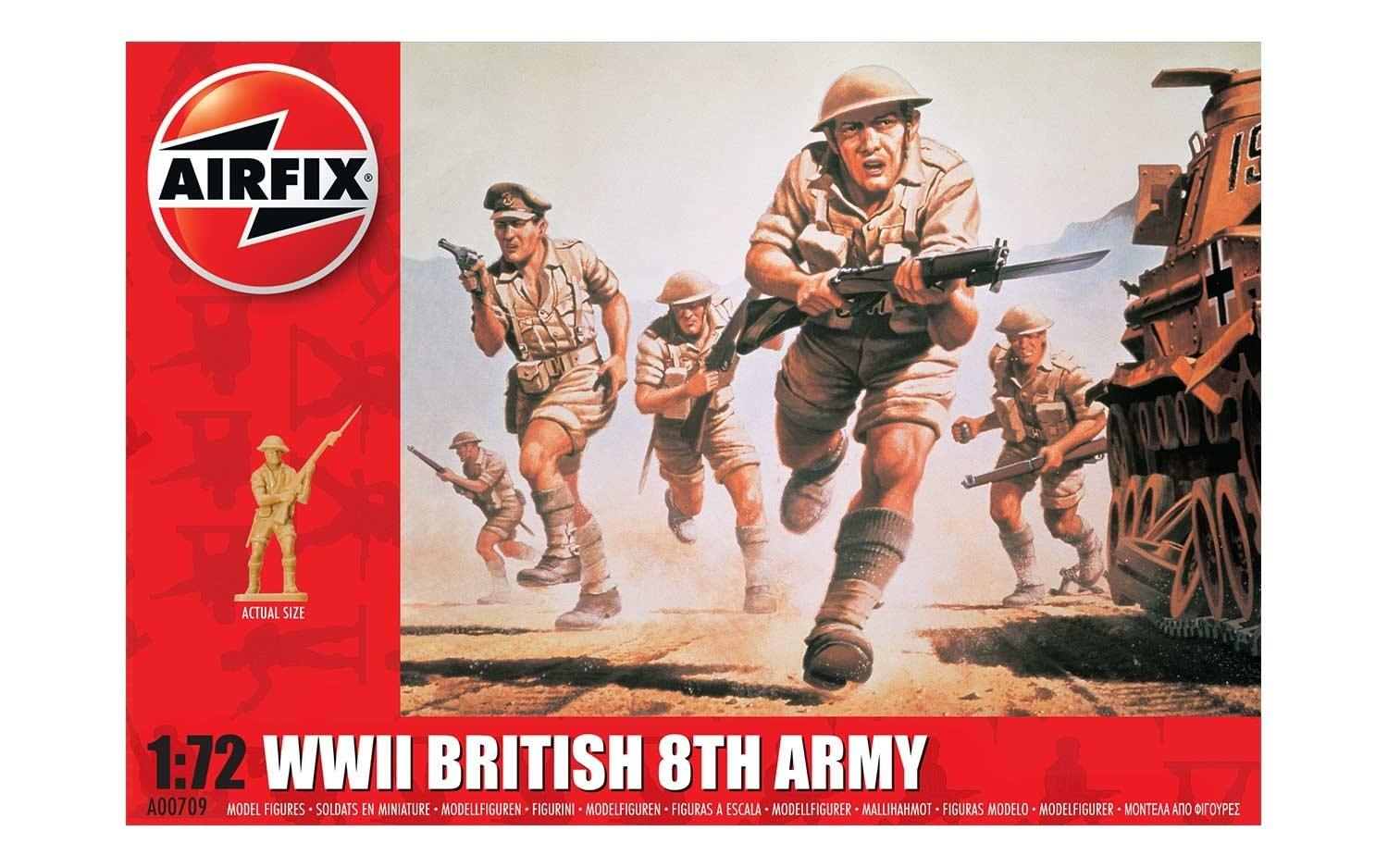 AIRFIX A00709 WWII British 8th Army Figures 1:72 scale kit