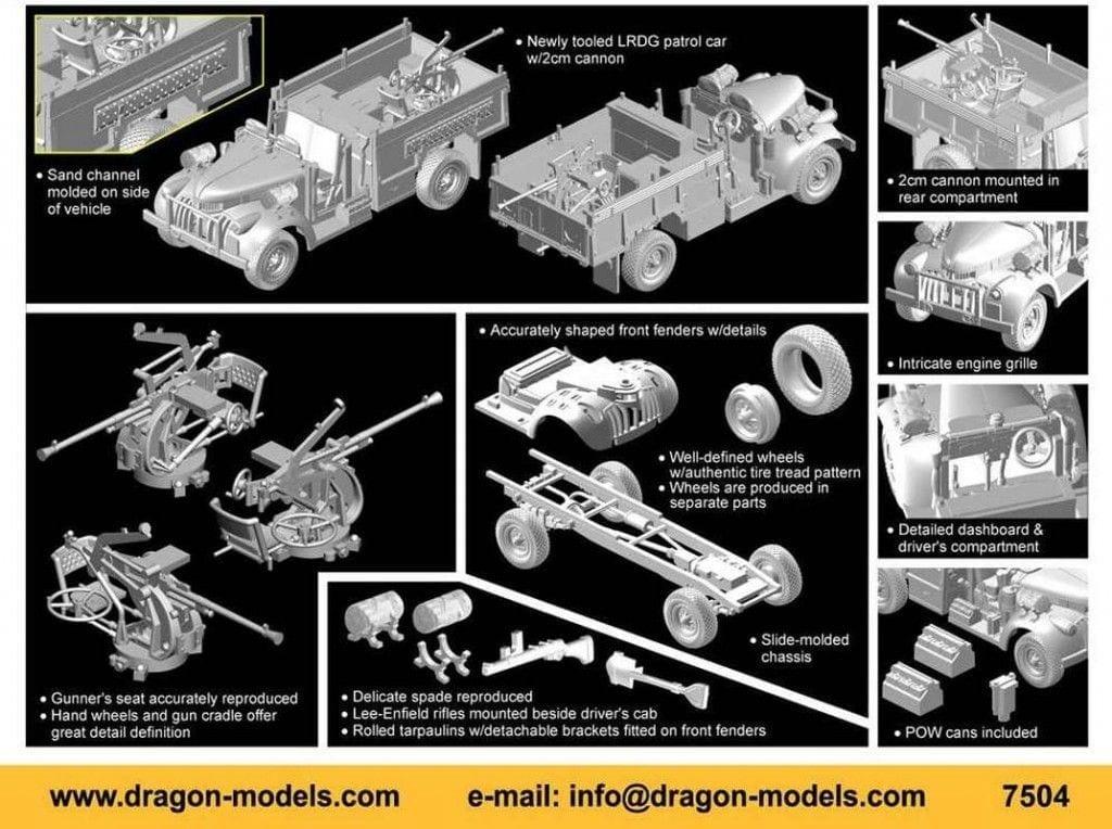 Dragon – 7504 – Long Range Desert Group Patrol Car w/2cm Gun ...