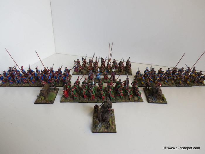 Family picture, the four regiments plus bears and extra command.