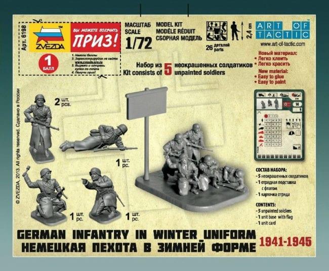 Winter Uniform German Infantry 1//72 Military Model Kit Zvezda 6198