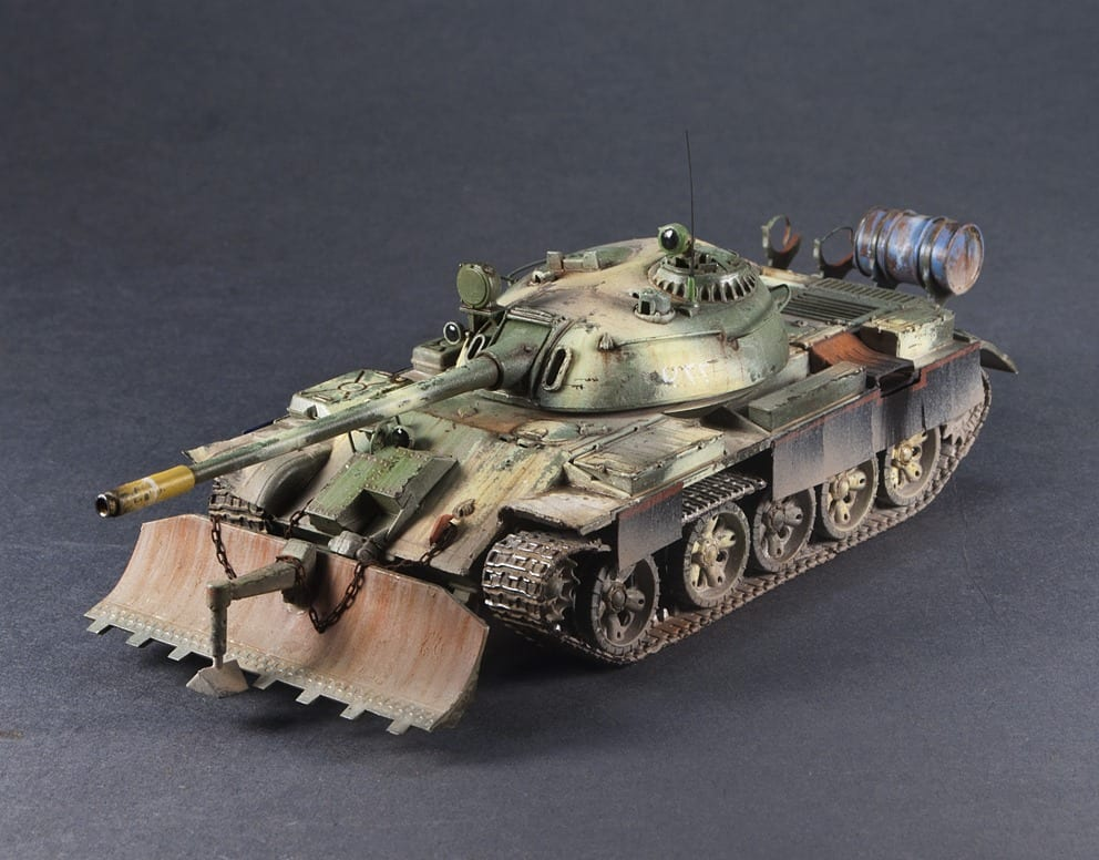 1/72 Trumpeter - 07284 - T-55 with BTU-55 (Iraq), Finished Model