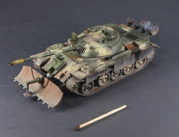 1/72 Trumpeter – 07284 – T-55 with BTU-55 (Iraq), Finished Model