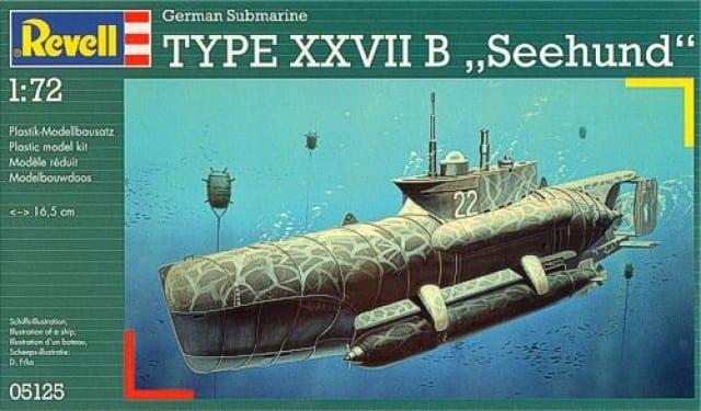 "Revell – 5125 – German Submarine Type XXVII B ""Seehund"""