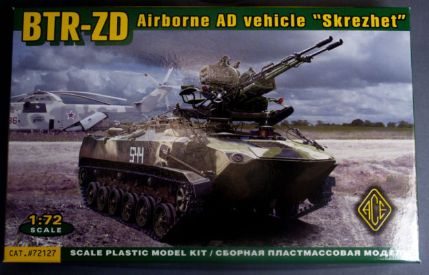 "1/72 ACE – 72127 – BTR-ZD Airborbne AD vehicle ""Screzhet"" ( eng. Gritting)  – InBox Review"