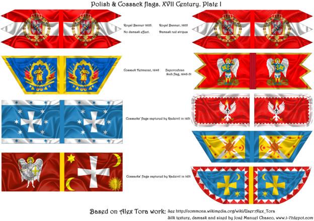 28mm – Polish Renaissance & Cossack Flags.