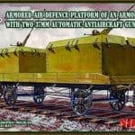 UMMT – 648 – Armored antiaircraft defense platform of an armored train with two 37мм automatic antiaircraft guns 61-K.