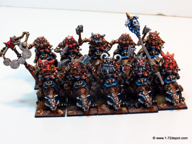 28mm – Mantic Games – Dwarf Berserker Brock Riders Regiment