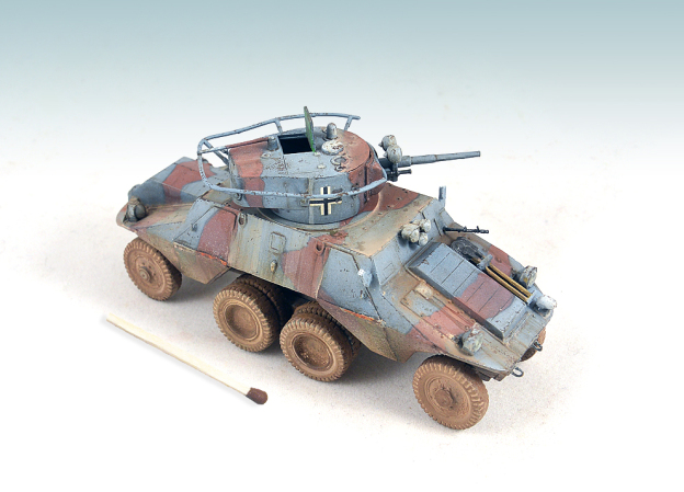 1/72  ACE – 72263 – ADGZ M 35 Mittleren Panzerwagen with T-26 turret (S-Model – 720033 – T26 model 1933) Field Modification