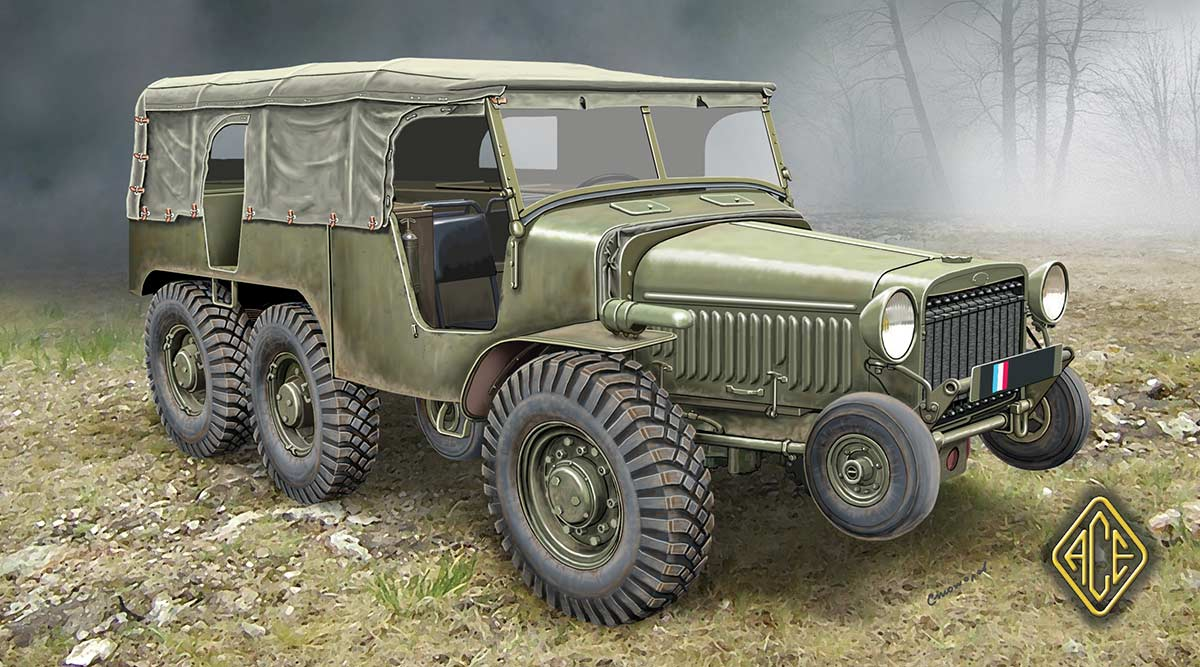 Armored Vehicles For Sale >> ACE – 72536 – French WW2 Artillery tractor (6×6) W15T – Vehicles - 1/72 Scale - Miniature ...