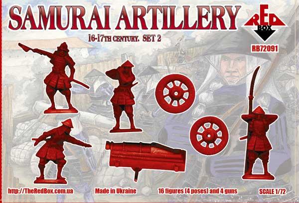 REDBOX 1:72 FIGUREN 72090 Samurai Artillery 16-17th Century Set 1