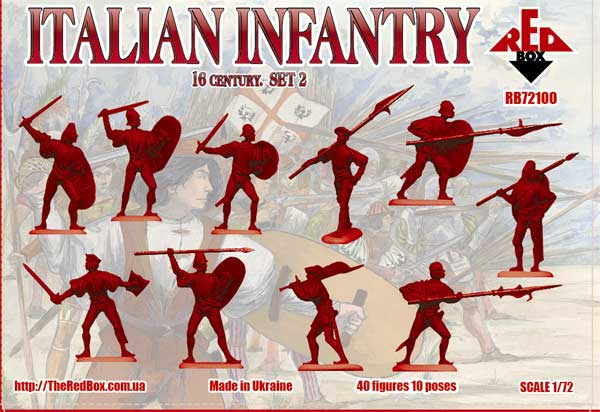 Red Box 72098 Spanish infantry set 3-1:72