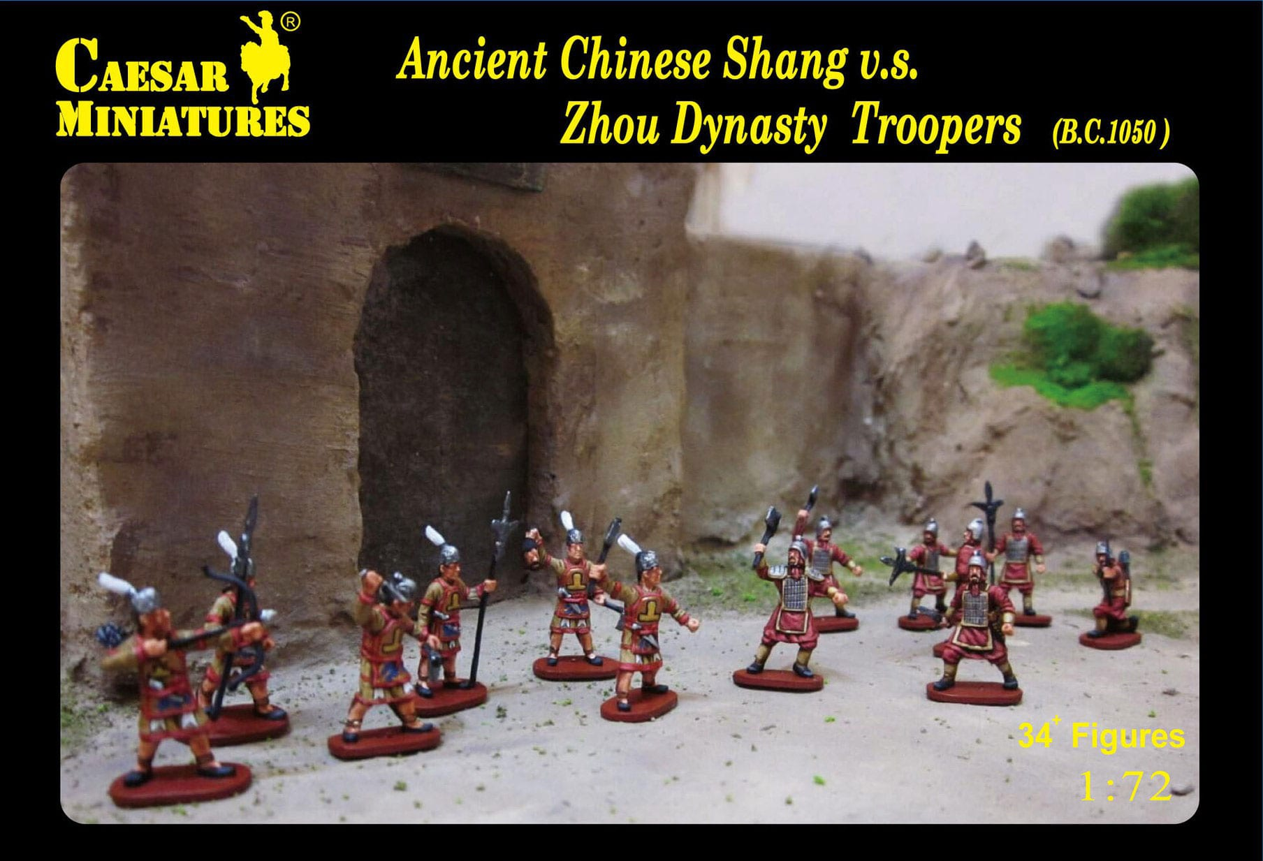 1:72 Zhou Dynasty troopers Ancient Chinese Shang v.s Caesar Miniatures