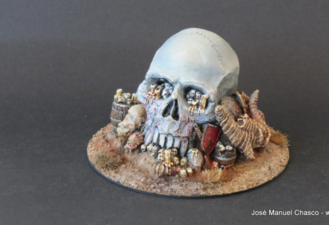 28mm – MOM Miniaturas – Scenery – Altar of skulls (Altar de craneos)