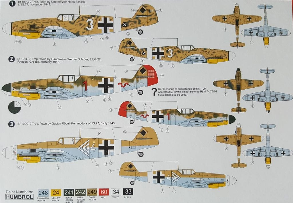 AZmodel - 7467 - Bf 109G-2 Trop - Miniature Figures & Scale Models ...