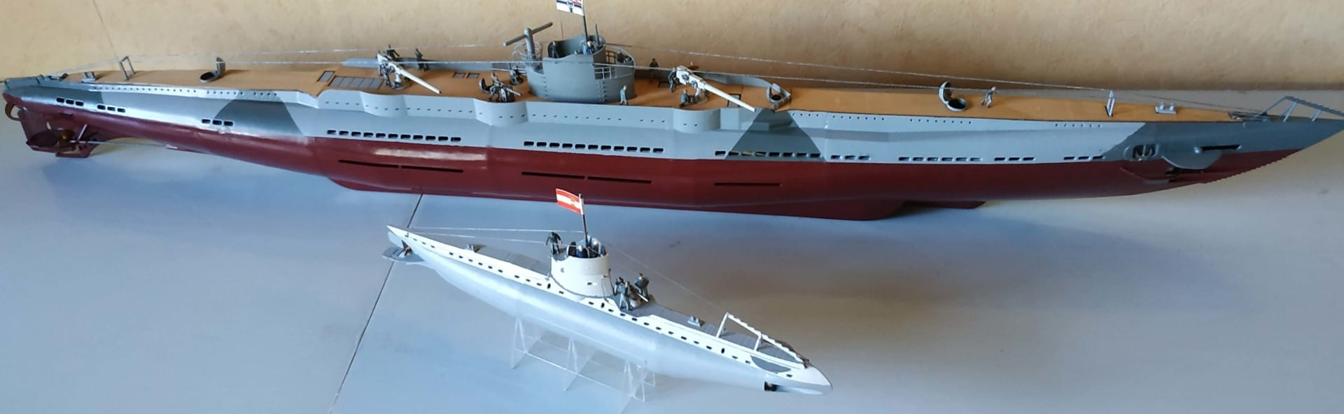 World War One U Boats model kits in 1:72 scale